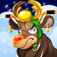 Santa rocket deer hi