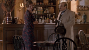 Beatrice Lippincott and Hercule Poirot at the Stag