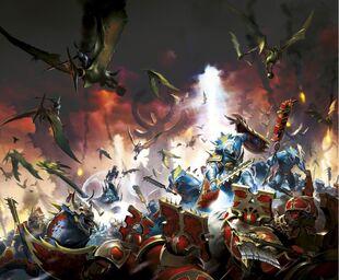 Seraphon vs Khorne Bloodbound 01