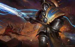 Protector Hallowed Knights vs Khorne Daemons Illustration.jpg