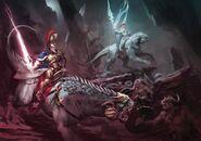 Evocators on celestial dracolines art 01