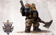 Arkanaut with privateer pistol and arkanaut cutter from Barak-Mhornar