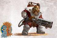 Gunnery Sergeant from Grundstok Thunderers with Drillbill from Barak-Thryng