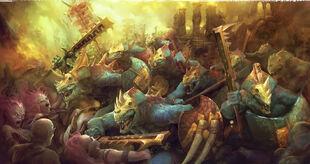 Saurus Guard vs Hedonites 01
