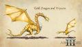 Art Golden Dragon