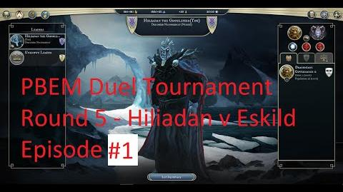 2015 PBEM Duel Tournament 1 - Round 5 - Hiliadan vs Eskild - episode 1 - turns 3 and 4 (commented)