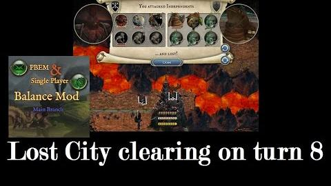 AoW3 - How to clear a Lost City before turn 10?