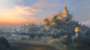 Age of Wonder 3 - Concept art of a Halfling Town