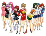 Female cast of Agent Aika front