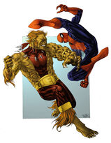 Spider Man vs Puma by spidermanfan2099