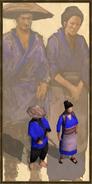Asian villager history portrait
