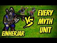 EINHERJAR vs EVERY MYTH UNIT - Age of Mythology