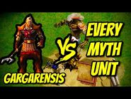 GARGARENSIS vs EVERY MYTH UNIT - Age of Mythology