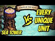 SEA TOWER vs EVERY UNIQUE UNIT - AoE II- Definitive Edition
