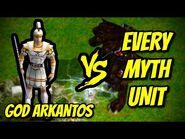 GOD ARKANTOS vs EVERY MYTH UNIT - Age of Mythology