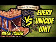 SIEGE TOWER vs EVERY UNIQUE UNIT - AoE II- Definitive Edition