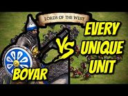 ELITE BOYAR vs EVERY UNIQUE UNIT (Lords of the West) - AoE II- Definitive Edition