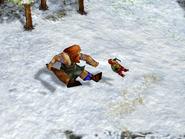 Aom mountain giant kick the dwarf