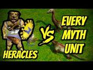 HERACLES vs EVERY MYTH UNIT - Age of Mythology