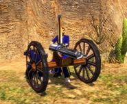 The Gatling Gun in Bombard Mode