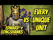 EDWARD LONGSHANKS vs EVERY UNIQUE UNIT - AoE II- Definitive Edition
