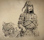 Genghis Khan in Armour