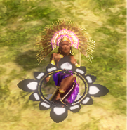 Fallen aztec chief
