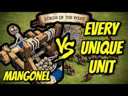 MANGONEL vs EVERY UNIQUE UNIT (Lords of the West) - AoE II- Definitive Edition