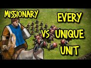 MISSIONARY vs EVERY UNIQUE UNIT - AoE II- Definitive Edition