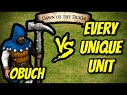 ELITE OBUCH vs EVERY UNIQUE UNIT - AoE II- Definitive Edition
