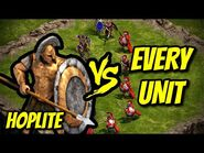HOPLITE vs EVERY UNIT - Age of Empires- Definitive Edition