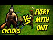 CYCLOPS vs EVERY MYTH UNIT - Age of Mythology