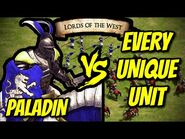 PALADIN vs EVERY UNIQUE UNIT (Lords of the West) - AoE II- Definitive Edition