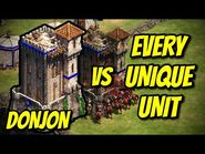DONJON vs EVERY UNIQUE UNIT - AoE II- Definitive Edition