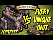 FORTRESS vs EVERY UNIQUE UNIT - AoE II- Definitive Edition
