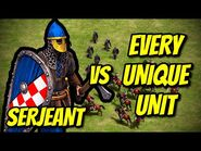 SERJEANT vs EVERY UNIQUE UNIT - AoE II- Definitive Edition