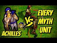 ACHILLES vs EVERY MYTH UNIT - Age of Mythology