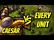 CAESAR vs EVERY UNIT - Age of Empires- Definitive Edition
