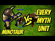 MINOTAUR vs EVERY MYTH UNIT - Age of Mythology