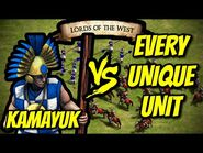 ELITE KAMAYUK vs EVERY UNIQUE UNIT (Lords of the West) - AoE II- Definitive Edition