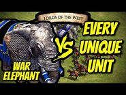 ELITE WAR ELEPHANT vs EVERY UNIQUE UNIT (Lords of the West) - AoE II- Definitive Edition