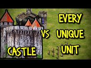 CASTLE vs EVERY UNIQUE UNIT - AoE II- Definitive Edition