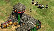 Lanzadores de hachas atacando