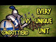 CONDOTTIERO vs EVERY UNIQUE UNIT - AoE II- Definitive Edition