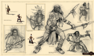 Native warrior concept art