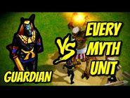 GUARDIAN vs EVERY MYTH UNIT - Age of Mythology