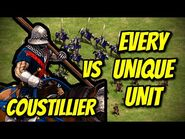ELITE COUSTILLIER vs EVERY UNIQUE UNIT - AoE II- Definitive Edition