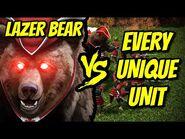 LAZER BEAR vs EVERY UNIQUE UNIT - AoE 3- Definitive Edition