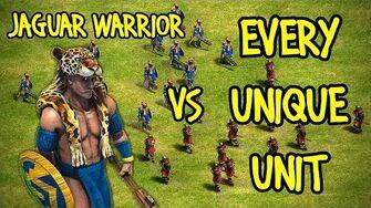ELITE JAGUAR WARRIOR vs EVERY UNIQUE UNIT AoE II Definitive Edition