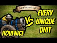 HOUFNICE vs EVERY UNIQUE UNIT - AoE II- Definitive Edition